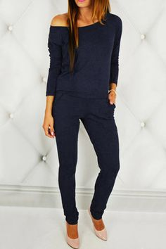 Black Round Neck Elastic Waist Jumpsuits from mobile - US$23.95 -YOINS