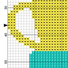 Cup Stack Cross Stitch Pattern