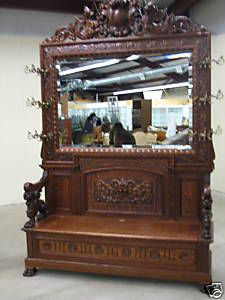 Unique Antique Hall Bench