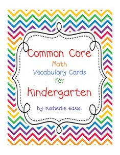 Common Core Second Grade Envision Math Vocabulary Cards Envision Math Kindergarten, Kindergarten Math Activities, Common Core Math, Common Core Standards, Math Focus Walls, Teacher Binder Covers, Math Bulletin Boards, Math Vocabulary, Maths Puzzles