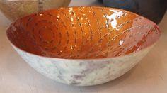"""SARAH PERKINS BOWL  Copper, enamel  2.5"""" x 6.5"""" x 6.5"""""""