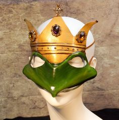Frog Prince Leather Mask by kmickel on Etsy