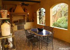 Our perfect backyard kitchen/dining.
