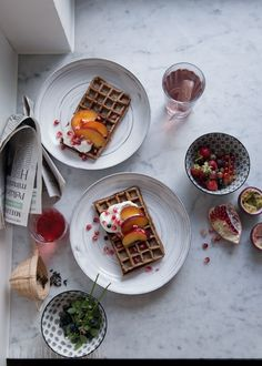 Waffles, Vegetarian, Pure Products, Book, Breakfast, Morning Coffee, Waffle, Book Illustrations, Books