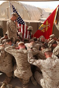 Marines pray for fallen brother by United States Marine Corps Official Page, via Flickr