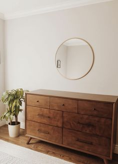 Morning views 🌿 Walking into the new week with a clear mind, renewed vigor and clean home – aside from that dog fur tumbleweed that I refuse to edit out of this. | bedroom ideas, bedroom decor, bedroom inspiration, midcentury modern bedroom, midcentury modern decor, midcentury modern dresser, midcentury modern mirror, minimalist home decor, minimalist bedroom #bedroom #decor #minimalist #midcentury Mid Century Modern Bedroom, Mid Century Modern Mirror, Minimalist Home Decor, Minimalist Bedroom, Midcentury Modern, Bedroom Design Inspiration, Modern Bedroom Decor, House Design, Interior Design