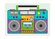 party decorations BoomBox Create on Behance How To Choose Locking Mailboxes locking mailboxes, m 90s Party Decorations, 50th Birthday Decorations, Party Themes, 80s Theme Outfit, 90s Theme, Hip Hop Party, 80s Party, 17th Birthday, 40th Birthday Parties