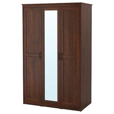 PAX Wardrobe - brown stained ash effect, Forsand brown stained ash effect - IKEA Ikea Pax, Brimnes Wardrobe, Pax Wardrobe, Corner Wardrobe, Small Clothes Rail, Clothes Storage, Block Out Curtains, Hemnes Shoe Cabinet, Windows