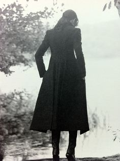 Coat and boots.