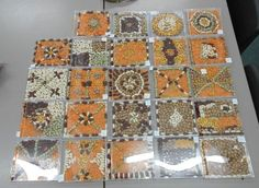 School Class Art club ideas- Roman Mosaics using a CD case and lentils/beans http://bricksandwood.blogspot.co.uk/