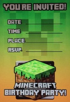 Minecraft Invitation Templates Birthday Buzzin And Lots Of Great