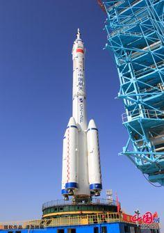 CZ2F rocket with Shenzhou 8 satellite