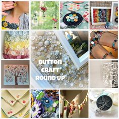 Amazing collection of Button Crafts. Every time I get a new outfit that comes with extra buttons, I put them in a shoe box for later use. These are some good ideas for those extra buttons laying around the house! Love this!