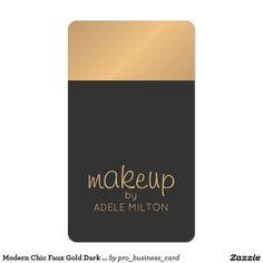 Modern Chic Faux Gold Dark Makeup Artist