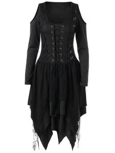 SHARE & Get it FREE   Halloween Lace Up Layered Handkerchief DressFor Fashion Lovers only:80,000+ Items • New Arrivals Daily • Affordable Casual to Chic for Every Occasion Join Sammydress: Get YOUR $50 NOW!
