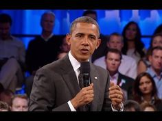 President Obama at Linked In Town Hall