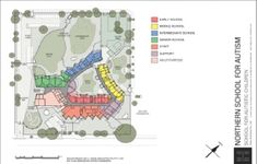 Figure 5: Layout of the Northern School for Autism Source: Hede Architects