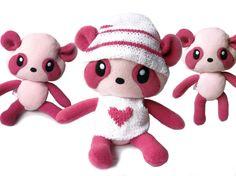 Big Fluse Kawaii Plush Panda Teddy  Pink  Light Pink von Fluse123