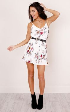 d714ff4f6b0 Headphone Hearts Playsuit In White Floral Produced