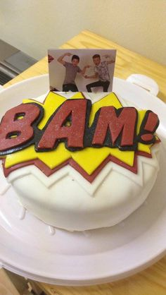 Bars and melody (BAM) birthday cake