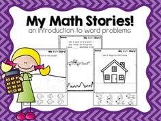 Math stories for little learners! This is an introduction to word problems for pre-k and kindergarten!  They include counting, direction, and beginning adding skills! These can be used as quick quizzes to make sure your kids can follow directions and count!