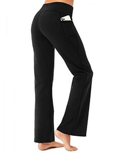 Buttery soft bootcut yoga pants with pockets Price: 24.99 #skinnypants Skinny Pants, Wide Leg Pants, Yoga Pants With Pockets, Gym Clothes Women, Yoga Capris, Spandex Material, Flare Pants, Workout Leggings