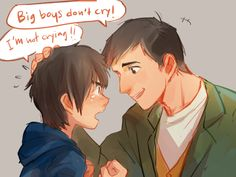 """Reminds me of that scene in the movie... Baymax: """"It is alright to cry."""" Hiro: """"I'm not crying!"""""""