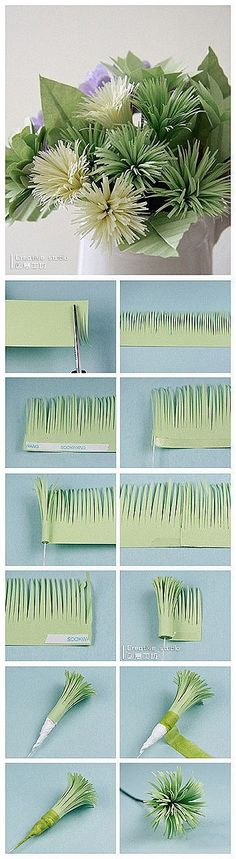 Paper flower sprays