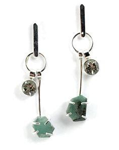 #earrings #argentium #silver #emeralds #greenamethyst #prasiolite #judyhmorganjewelry
