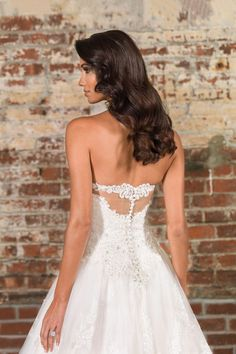 Justin Alexander Signature - Style 9860: Allover Lace Gown with Sequin Underlay and Dramatic Monarch Train