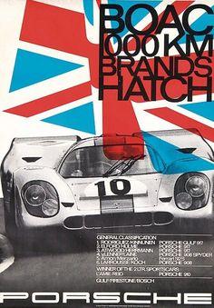 Porsche B.O.A.C. 1000 Km. Brands Hatch 1970