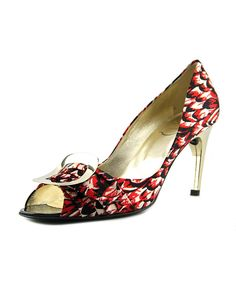 ROGER VIVIER Roger Vivier Spuntata Gigi T.85   Peep-Toe Canvas  Heels'. #rogervivier #shoes #pumps & high heels
