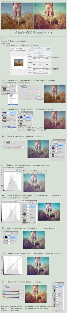 Great tutorial on editing photos for a vintage look.