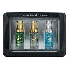 Beverly Hills Polo Club amgbhpc3mbk 3 Piece Variety Gift Set For Men, Black