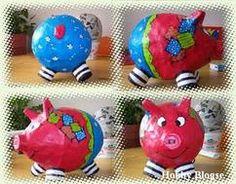 varken van papier maché Paper Mache Paste, Paper Mache Clay, Paper Mache Crafts, Paper Mache Sculpture, Diy For Kids, Crafts For Kids, Summer Crafts, Paper Mache Animals, Pig Crafts