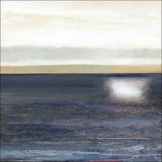 Kurt Jackson - The sun goes down behind Kintyre. 2012 Mixed media on canvas… Seascape Paintings, Landscape Paintings, Kurt Jackson, St Just, Mixed Media Canvas, Famous Artists, Painting Inspiration, Contemporary Art, Abstract Art