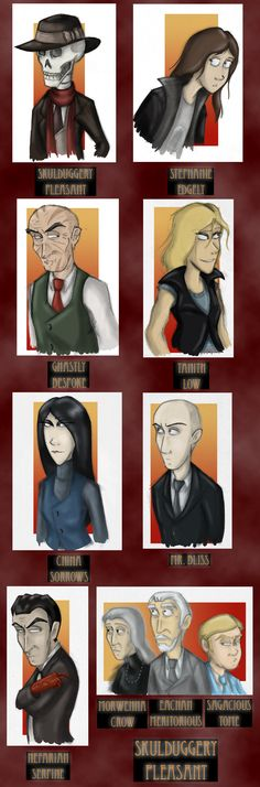 Skulduggery Pleasant, book 1 cast of characters :D