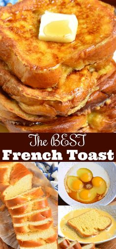 The BEST French Toast. This is the best French Toast recipe that features soft, buttery Brioche bread soaked in sweetened egg mixture. Perfect combination of plush and soft inside and crispy outside texture. Toast The Best French Toast Breakfast Appetizers, Breakfast Dessert, Breakfast Dishes, Breakfast Ideas With Eggs, Breakfast Casserole French Toast, Breakfast Sandwiches, Breakfast Time, Awesome French Toast Recipe, Make French Toast