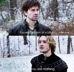 // Reign // Bash and Francis // Bash is by far the better, more honest and honorable man // The CW // <--- Francis didn't even have a decent comeback Mary Queen Of Scots, Queen Mary, Reign Bash, Reign Catherine, Reign Mary And Francis, Reign Quotes, Reign Tv Show, Toby Regbo, Life Moves Pretty Fast