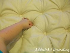 really good tutorial - How To Make A Diamond Tufted Upholstered Headboard