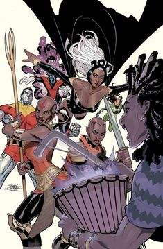 The Dora Milaje are all set to team up with the X-Men in their three-issue miniseries. I can't wait for X-Men: Wakanda Forever to be released this July! X Men, Star Trek, Black Panther Series, World Of Wakanda, Writing Comics, Dora Milaje, Marvel Entertainment, American Comics, Marvel Dc Comics