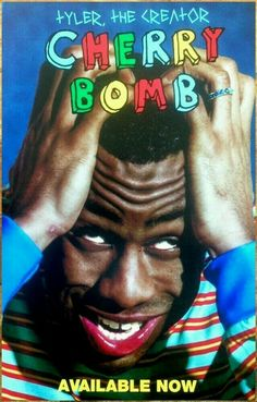 Tyler the Creator Cherry Bomb Hip Hop 2015 Album Cover Poster Room Posters, Band Posters, Poster Wall, Poster Prints, Pop Art Posters, Bedroom Wall Collage, Photo Wall Collage, Picture Wall, Aesthetic Iphone Wallpaper