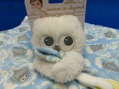 Blankets and Beyond Security Blanket Owl Pacifier Holder Nunu Blue Lovely #BlanketsandBeyond