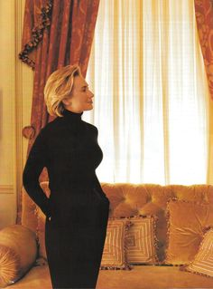 """The Extraordinary Hillary Clinton""  Model/Politic: Hillary Clinton Photographer: Annie Leibovitz Editor: Paul Cavaco Hair: Sally Hershberger Makeup: Jeanine Lobell"