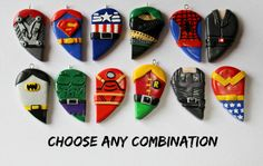 Customizable Superhero Friendship Necklaces from CharmingClayCreation