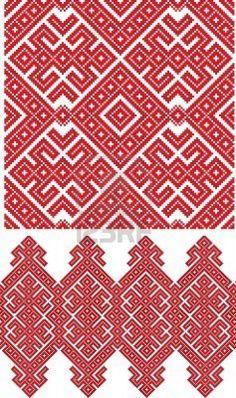 there is a Ukrainian folk embroidery (handmade) Stock Photo