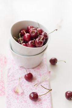 #food photography #food styling first cherries of this season... #inspiration | Au Petit Goût