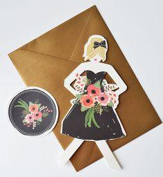 Will You Be My Bridesmaid Cards (by The First Snow via EmmalineBride.com) #handmade #wedding #bridesmaids