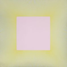 Richard Anuszkiewicz - Yellow Edged Pink Square, 1979, Acrylic on Canvas, 48 x 48 in., Collection of The Newark Museum, Newark, NJ