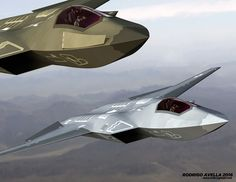 Sixth-generation fighter based on the model of Lockheed Martin for AFRL ESAV studies Stealth Aircraft, Fighter Aircraft, Military Aircraft, Aurora Aircraft, Russian Fighter Jets, Airplane Fighter, Flying Vehicles, Air Fighter, Experimental Aircraft
